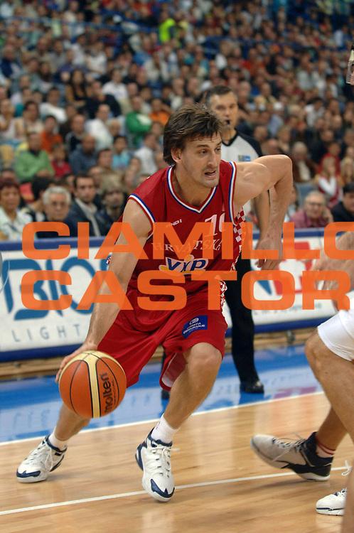 DESCRIZIONE : Belgrado Belgrade Eurobasket Men 2005 Croazia-Spagna <br /> GIOCATORE : Giricek<br /> SQUADRA : Croazia Croatia<br /> EVENTO : Eurobasket Men 2005 Campionati Europei Uomini 2005<br /> GARA : Croazia Spagna Croatia Spain<br /> DATA : 23/09/2005<br /> CATEGORIA :<br /> SPORT : Pallacanestro<br /> AUTORE : Ciamillo&amp;Castoria/Fiba Europe Pool