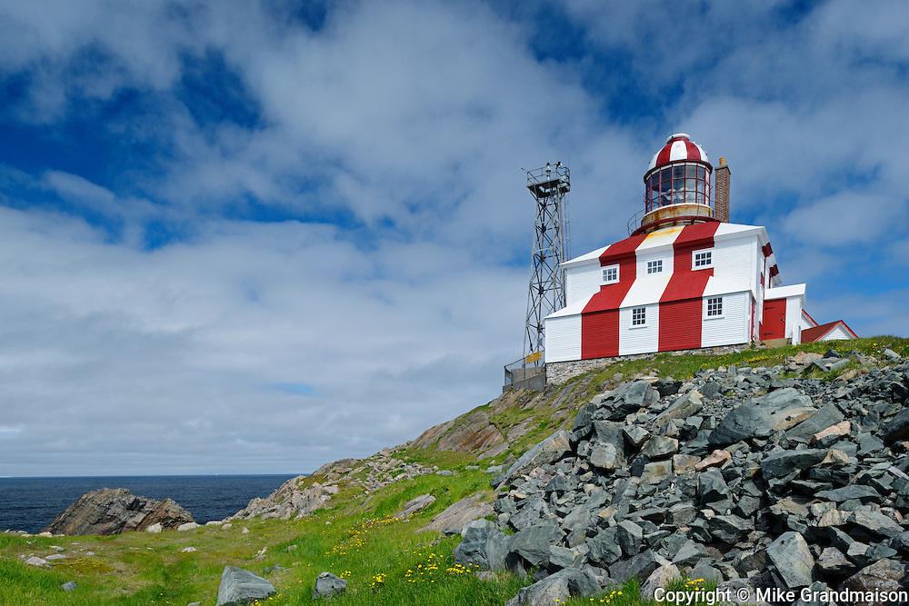 Cape Bonavista Lighthouse on Bonavista Bay in the Atlantic Ocean<br /> Cape Bonavista<br /> Newfoundland & Labrador<br /> Canada