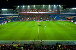 CARDIFF, WALES - Tuesday, November 14, 2017: Players and supporters stand for a minute silence before the international friendly match between Wales and Panama at the Cardiff City Stadium. (Pic by Peter Powell/Propaganda)