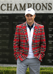 February 20, 2017 - Fort Worth, TX, USA - Professional golfer Jordan Spieth visited Colonial Country Club to see his name placed on the Wall of Champions Monday, Feb. 20, 2017 in Fort Worth, Texas. Dean & Deluca hosted Spieth, the previous year's champion, with a luncheon. (Credit Image: © Ron Jenkins/TNS via ZUMA Wire)