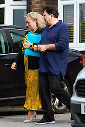 Head teacher Ruth Ejvet leaves her Essex home with her husband to attend her ongoing employment tribunal at Stratford Employment Tribunal in Poplar. Theydon Bois, Essex, May 22 2019.