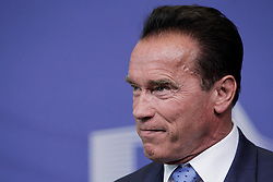59895732<br /> U.S. actor and former Governor of California Arnold Schwarzenegger attends a press conference with European Commission President Jose Manuel Barroso (not seen) after their meeting at the European Union headquarters in Brussels, capital of Belgium, on June 24, 2013. They talked about climate change during their meeting on Monday  June 24, 2013. Picture by imago / i-Images<br /> UK ONLY