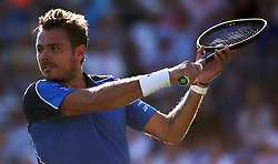 Switzerland's Stan Wawrinka during day two of the Nature Valley International at Devonshire Park, Eastbourne.