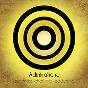 Adinkrahene: greatness. charisma. leadership. <br />