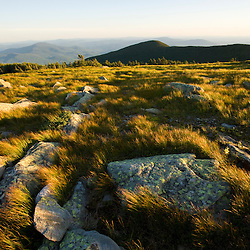 The summit of Mount Moosilauke in New Hampshire's White Mountains.  Benton, New Hampshiire.