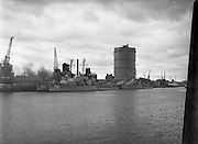 IMCO (Invisible Mending Company) Collection Van visits U.S. Ships.04/08/1956<br />