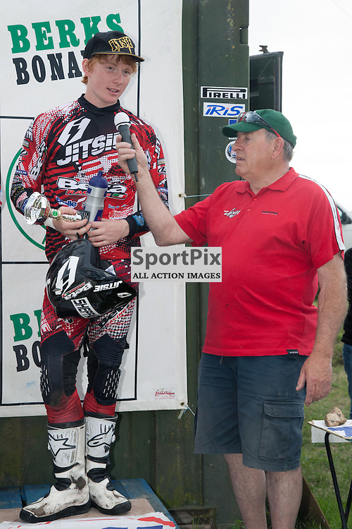 4th Place - Jack Sheppard on the podium, North Berks Supertrial - National Championships 2013