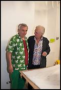 ROBIN KLASSNIK; JIMMIE DURHAM, Matt's Gallery 35th birthday fundraising supper.  42-44 Copperfield Road, London E3 4RR. 12 June 2014.