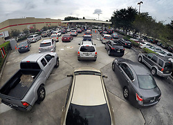 Drivers wait in line for gasoline at the Costco in Altamonte Springs, FL, USA., ahead of the anticipated arrival of Hurricane Irma on Wednesday, September 6, 2017. Photo by Joe Burbank/Orlando Sentinel/TNS/ABACAPRESS.COM