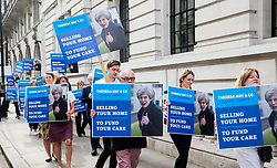 June 2, 2017 - London, London, United Kingdom - Image ©Licensed to i-Images Picture Agency. 02/06/2017. London, United Kingdom. .Ed Davey Mp joins Liberal Democrats supporters to demonstrate outside Conservative central office at Theresa May's 'Dementia tax', forcing people to sell their homes to care for their family members. Picture by Mark Thomas / i-Images (Credit Image: © Mark Thomas/i-Images via ZUMA Press)