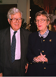LORD & LADY HOWE at a party in London on 13th October 1998.  MKT 24