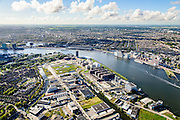 Nederland, Noord-Holland, Amsterdam, 27-09-2015; Amsterdam-Noord, Buiksloterham en Overhoeks. Asterweg en Distelweg, voormalig industriegebied. <br /> Amsterdam North, former industrial area, being developed.<br /> luchtfoto (toeslag op standard tarieven);<br /> aerial photo (additional fee required);<br /> copyright foto/photo Siebe Swart