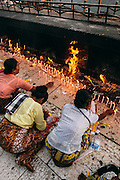 Devotees stay over night at Kyaiktiyo Pagoda (Golden rock)). Mon State, Myanmar