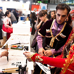 Milan, Italy - February  17:  BIT International Tourism Exchange on february 17, 2012 in Milan, Italy.