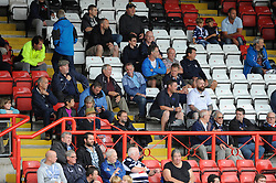 People look on from the stands as the Bristol Rugby team train in an open training session - Photo mandatory by-line: Dougie Allward/JMP - Mobile: 07966 386802 01/09/2014 - SPORT - FOOTBALL - Bristol - Ashton Gate - Bristol Rugby Open Training Session - Green King IPA Championship