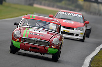 #90 Martin Whitlock MG B Roadster 1840 during the CSCC Meteor Suspension Open Series at Oulton Park, Little Budworth, Cheshire, United Kingdom. October 15 2016. World Copyright Peter Taylor/PSP. <br /> Copy of publication required for printed pictures.  Every used picture is fee-liable. http://archive.petertaylor-photographic.co.uk