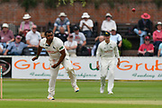 Samit Patel of Nottinghamshire bowling during the Specsavers County Champ Div 1 match between Somerset County Cricket Club and Nottinghamshire County Cricket Club at the Cooper Associates County Ground, Taunton, United Kingdom on 10 June 2018. Picture by Graham Hunt.