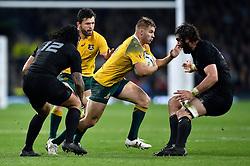 Drew Mitchell of Australia goes on the attack - Mandatory byline: Patrick Khachfe/JMP - 07966 386802 - 31/10/2015 - RUGBY UNION - Twickenham Stadium - London, England - New Zealand v Australia - Rugby World Cup 2015 Final.