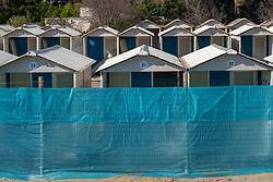 Beach huts in the Lido in Venice. From a series of travel photos in Italy. Photo date: Wednesday, February 13, 2019. Photo credit should read: Richard Gray/EMPICS