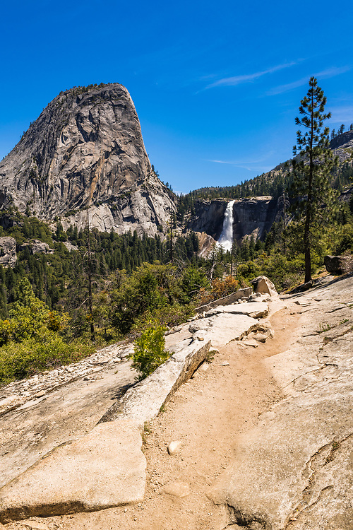 Nevada Fall from the John Muir Trail, Yosemite National Park, California USA