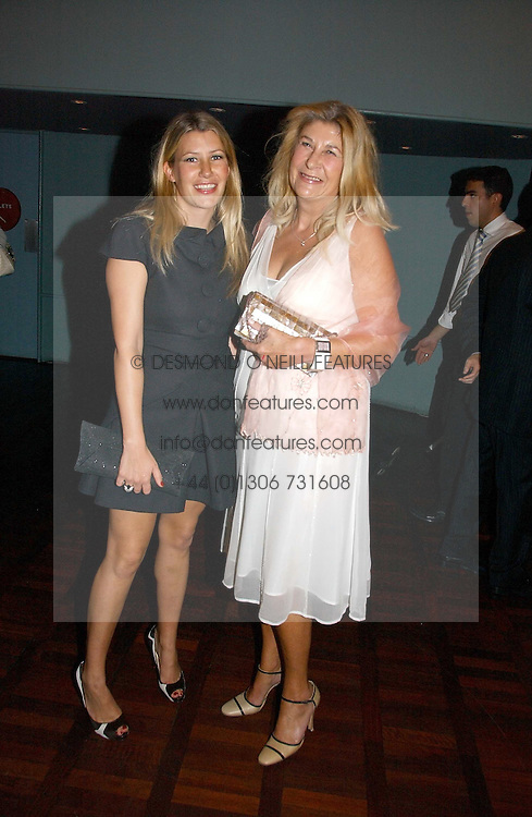 SARA PARKER BOWLES and her mother CAROLINE BUYS at a party to celebrate the publication of 'The year of Eating Dangerously' by Tom Parker Bowles held at Kensington Place, 201 Kensington Church Street, London on 12th october 2006.<br />