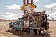 1959 Chevrolet Apache 36 Pickup Camper, Historic Route 66, Tucumcari, New Mexico
