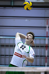 Bedrač Žan of Panvita Pomgrad on serve during volleyball match between Panvita Pomgrad and Šoštanj Topolšica of 1. DOL Slovenian National Championship 2019/20, on December 14, 2019 in Osnovna šola I, Murska Sobota, Slovenia. Photo by Blaž Weindorfer / Sportida