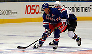 Brendan Shanahan of the New York Rangers brings the up ice against the Washington Capitals  at Madison Square Garden in New York Thursday 05 October 2006.<br />