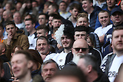 Derby County fans during the EFL Sky Bet Championship match between Derby County and West Bromwich Albion at the Pride Park, Derby, England on 5 May 2019.