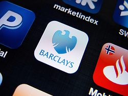 detail of Barclays banking app on iPhone screen