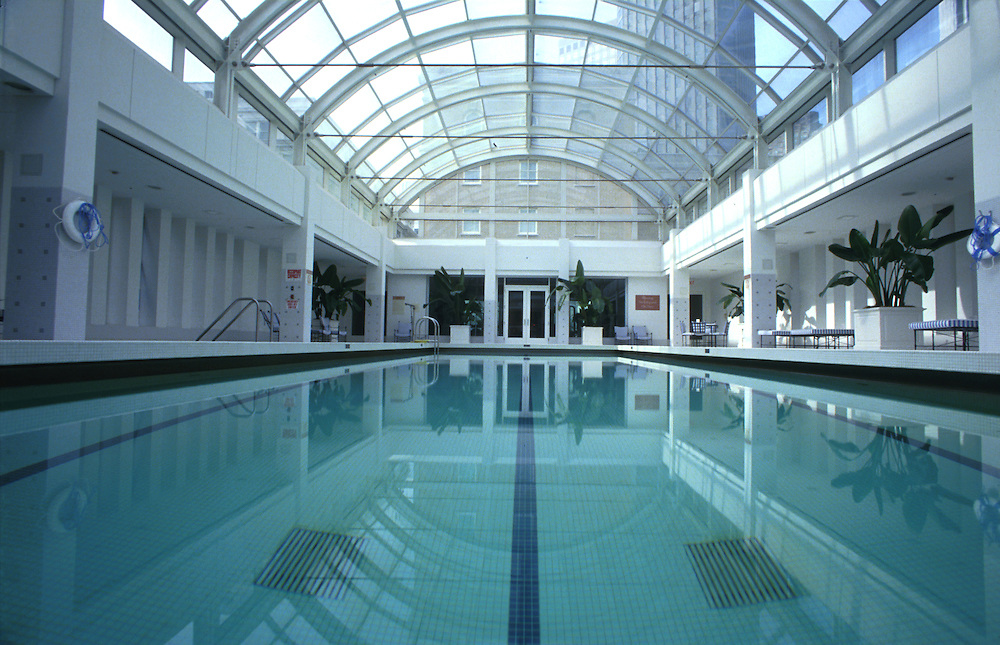 The swimming pool of the Sheraton Palace Hotel in San Francisco.