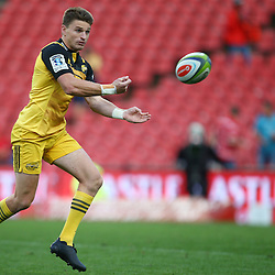 JOHANNESBURG, SOUTH AFRICA - APRIL 30: Beauden Barrett of the Hurricanes during the Super Rugby match between Emirates Lions and Hurricanes at Emirates Airline Park on April 30, 2016 in Johannesburg, South Africa. (Photo by Steve Haag/Gallo Images)