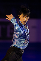KELOWNA, BC - OCTOBER 24: Men's gold medalist Yuzuru Hanyu of Japan performs in the gala of Skate Canada International at Prospera Place on October 24, 2019 in Kelowna, Canada. (Photo by Marissa Baecker/Shoot the Breeze)