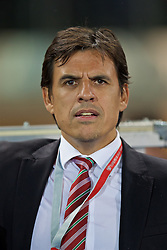 VIENNA, AUSTRIA - Thursday, October 6, 2016: Wales manager Chris Coleman before the 2018 FIFA World Cup Qualifying Group D match against Austria at the Ernst-Happel-Stadion. (Pic by David Rawcliffe/Propaganda)