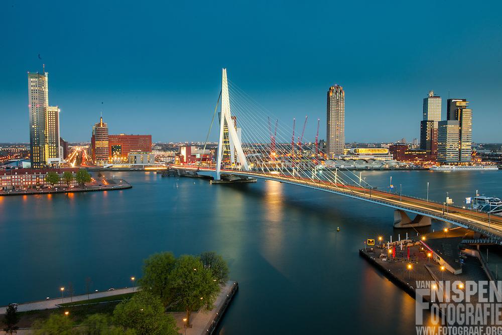 Erasmusbrug naar zuid, Rotterdam