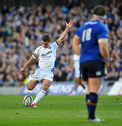 George Ford of Bath Rugby kicks for the posts - Photo mandatory by-line: Patrick Khachfe/JMP - Mobile: 07966 386802 04/04/2015 - SPORT - RUGBY UNION - Dublin - Aviva Stadium - Leinster Rugby v Bath Rugby - European Rugby Champions Cup