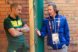 Uros Stanic and Jaka Lucu before press conference of Slovenia National football team at  Hyde Park High School Stadium on June 21, 2010 in Johannesburg, South Africa.  (Photo by Vid Ponikvar / Sportida)