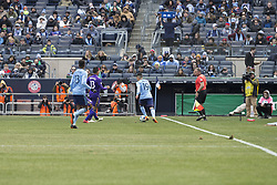 March 17, 2018 - New York, New York, United States - Jesus Medina (19) of NYC FC controls ball during regular MLS game against Orlando City SC at Yankee stadium NYC FC won 2 - 0 (Credit Image: © Lev Radin/Pacific Press via ZUMA Wire)