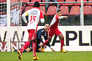 Onderwerp/Subject: FC Utrecht - Willem II - Eredivisie<br /> Reklame:  <br /> Club/Team/Country: <br /> Seizoen/Season: 2012/2013<br /> FOTO/PHOTO: Anouar KALI (R) of FC Utrecht celebrating his goal and Goalkeeper David MEUL (L) of Willem II dejected ( 1 - 0 ). (Photo by PICS UNITED)<br /> <br /> Trefwoorden/Keywords: <br /> #02 #03 #21 $94 ±1354626289759<br /> Photo- & Copyrights © PICS UNITED <br /> P.O. Box 7164 - 5605 BE  EINDHOVEN (THE NETHERLANDS) <br /> Phone +31 (0)40 296 28 00 <br /> Fax +31 (0) 40 248 47 43 <br /> http://www.pics-united.com <br /> e-mail : sales@pics-united.com (If you would like to raise any issues regarding any aspects of products / service of PICS UNITED) or <br /> e-mail : sales@pics-united.com   <br /> <br /> ATTENTIE: <br /> Publicatie ook bij aanbieding door derden is slechts toegestaan na verkregen toestemming van Pics United. <br /> VOLLEDIGE NAAMSVERMELDING IS VERPLICHT! (© PICS UNITED/Naam Fotograaf, zie veld 4 van de bestandsinfo 'credits') <br /> ATTENTION:  <br /> © Pics United. Reproduction/publication of this photo by any parties is only permitted after authorisation is sought and obtained from  PICS UNITED- THE NETHERLANDS