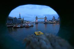 UK ENGLAND LONDON 23NOV16 - The Greenpeace ship Esperanza lies moored next to Tower Bridge in central  London.<br /> <br /> jre/Photo by Jiri Rezac<br /> <br /> &copy; Jiri Rezac 2016