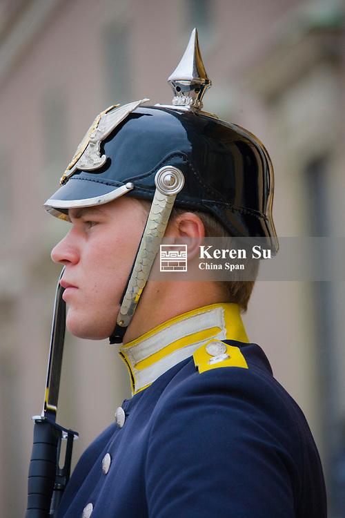Guard at Storkyrkan, Royal Cathedral, Stockholm, Sweden