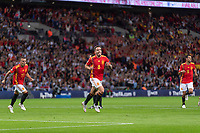 Football - 2018 / 2019 UEFA Nations League A - Group Four: England vs. Spain<br /> <br /> Saul Niguez (Spain) runs off after scoring the equaliser for Spain at Wembley Stadium.<br /> <br /> COLORSPORT/DANIEL BEARHAM