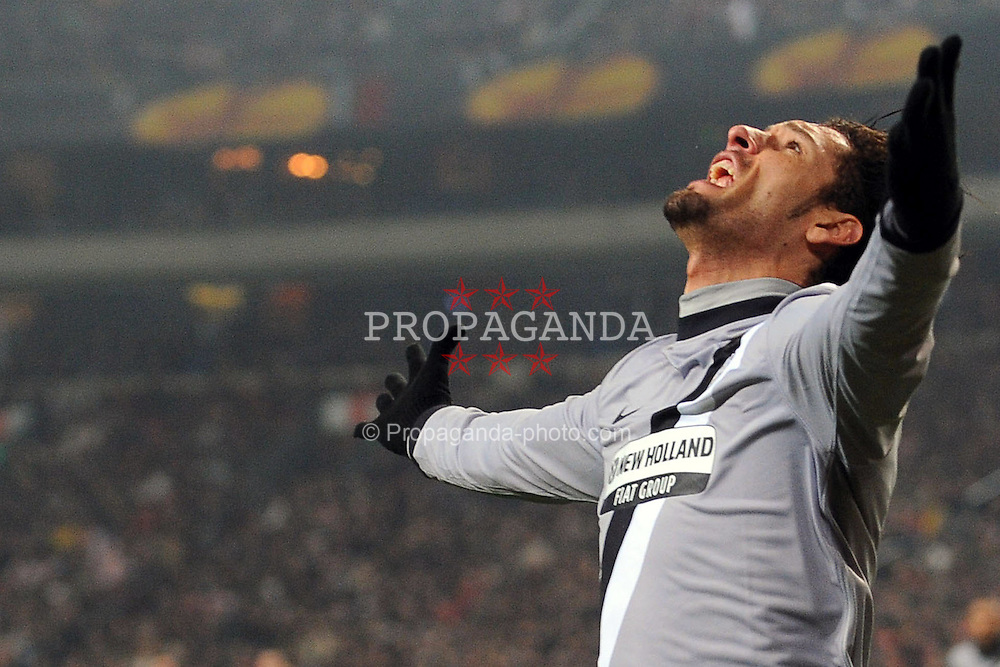 18.02.2010, Amsterdam Arena, Amsterdam, NED, UEFA EL, Ajax Amsterdam vs Juventus Turin, im Bild Torjubel von AMAURI Juventus, EXPA Pictures © 2010 for Austria Croatia and Germany only, Photographer EXPA / Inside Foto / Zangirolami