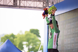 Leah Kirchmann (Liv Plantur) leads the sprint competition - Tour of Chongming Island 2016 - Stage 1. A 139.8km road race on Chongming Island, China on May 6th 2016.