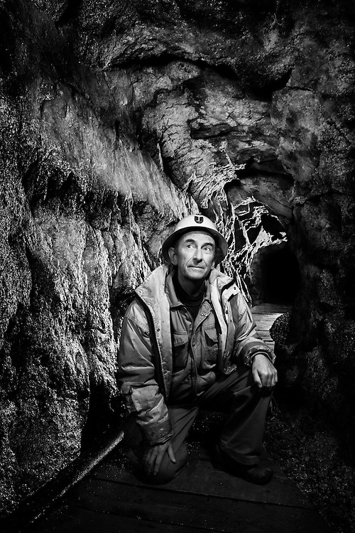 Richard Williams, former South Crofty miner, pictured in the eighteenth century workings of Poldark Mine, where he is the Managing Director.