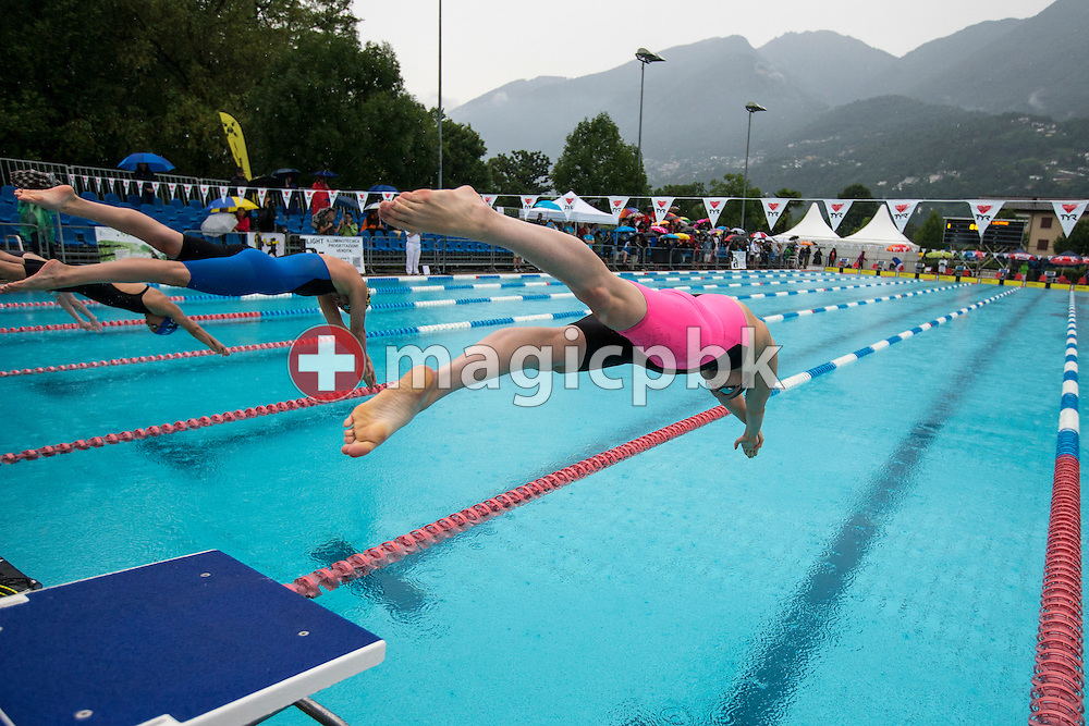 SCUW's Julia HASSLER of Liechtenstein competes in the women's 200m Freestyle Final during the Swiss Swimming Summer Championships held at the 50m outdoor pool at the Centro sportivo nazionale della gioventu in Tenero, Switzerland, Friday, July 4, 2014. (Photo by Patrick B. Kraemer / MAGICPBK)