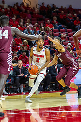 NORMAL, IL - November 10: Zach Copeland defended by Isaiah Palermo during a college basketball game between the ISU Redbirds and the Little Rock Trojans on November 10 2019 at Redbird Arena in Normal, IL. (Photo by Alan Look)