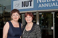 Mary Bousted, ATL General Secretary  & Christine Blower, NUT General Secretary, at the NUT Conference 2011.