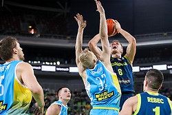 Edo Muric of Slovenia vs Bogdan Bliznyuk of Ukraine during basketball match between National teams of Slovenia and Ukraine in Round #12 of FIBA Basketball World Cup 2019 European Qualifiers, on February 25, 2019 in Arena Stozice, Ljubljana, Slovenia. Photo by Matic Klansek Velej / Sportida