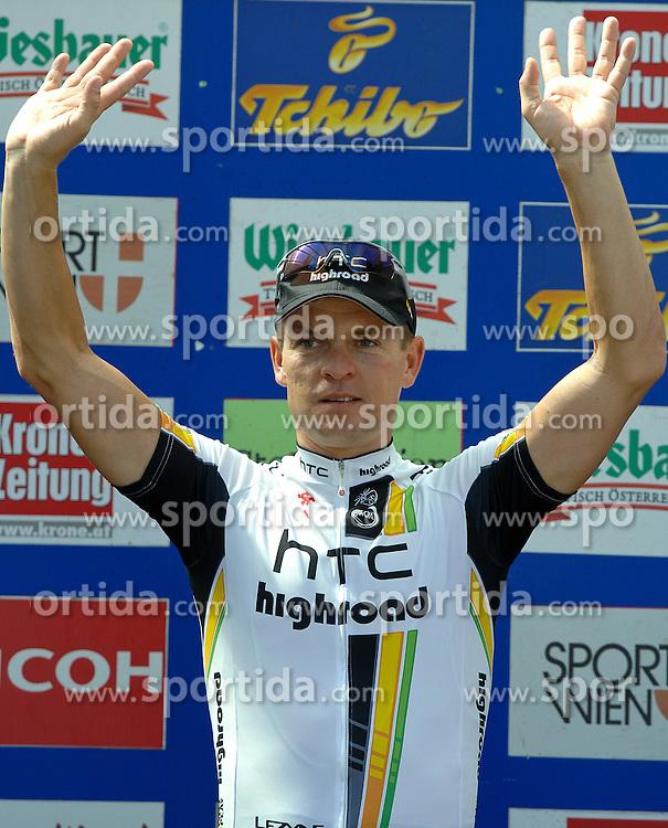 09.07.2011, AUT, 63. OESTERREICH RUNDFAHRT, 9. ETAPPE, EZF PODERSDORF, im Bild Tagessieger Bert Grabsch, (GER, HTC Highroad) // during the 63rd Tour of Austria, Stage 7, 2011/07/09, EXPA Pictures © 2011, PhotoCredit: EXPA/ S. Zangrando